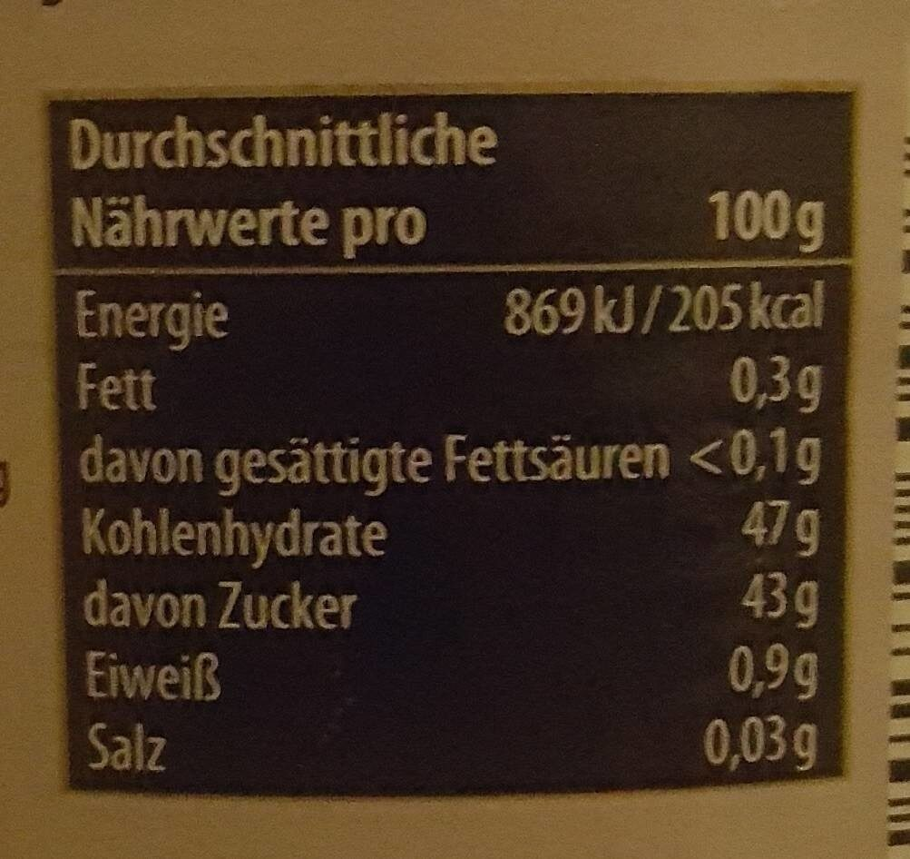 Aachener Pflümli Marmelade - Nutrition facts - de