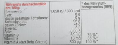 Cupper Sport Bonbons - Ingredients