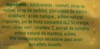 Pastilles pour la gorge au citron - Ingredients