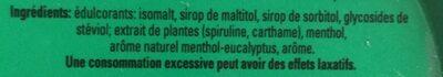 Pulmoll Pastilles Eucalyptus Menthol 45G - Ingrédients - fr