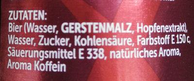 Bier + Cola + X - Zutaten - de
