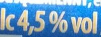 St. Wendeler Pils - Nutrition facts - fr