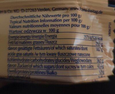 Wafer con crema di cacao e nocciola - Valori nutrizionali - it