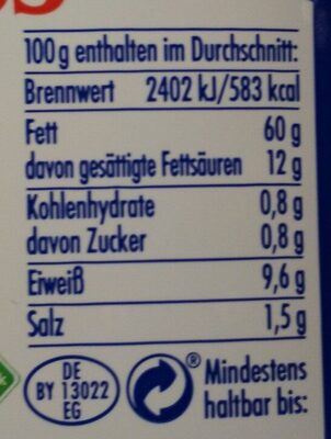 Schafskäse in Kräuter und Öl - Nährwertangaben - de