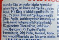 Patros mit Oliven & Paprika - Ingrédients