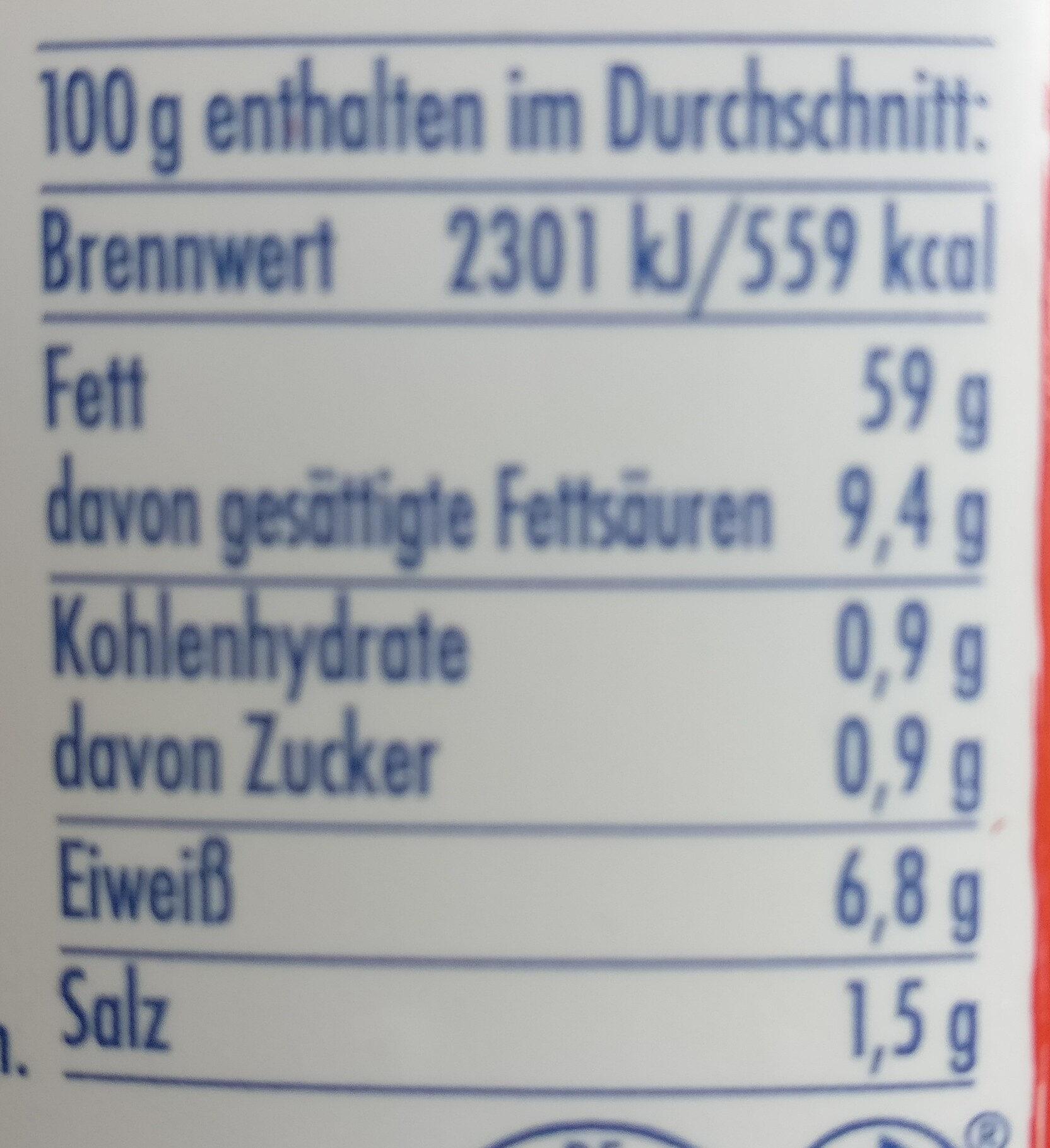 Patros mit Oliven & Paprika - Informations nutritionnelles