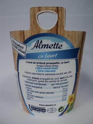 Almette Cremă de brânză proaspătă cu iaurt - Ingredients - ro