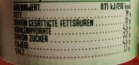 Gemüse Traum Karotte Kräuter Frischkäse - Nährwertangaben - de