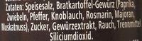 Bratkartoffel Würzmischung - Ingredients - de