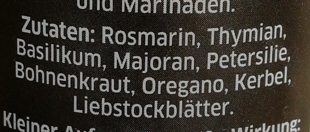 Kräuter der Provence - Ingrediënten - de