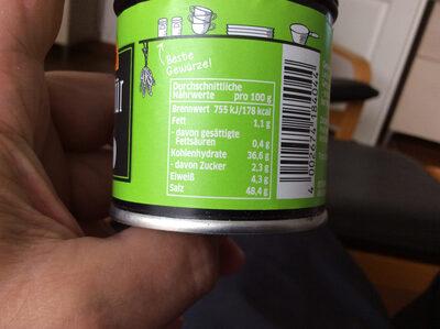 Ostmann lecker für Gemüse - Informations nutritionnelles