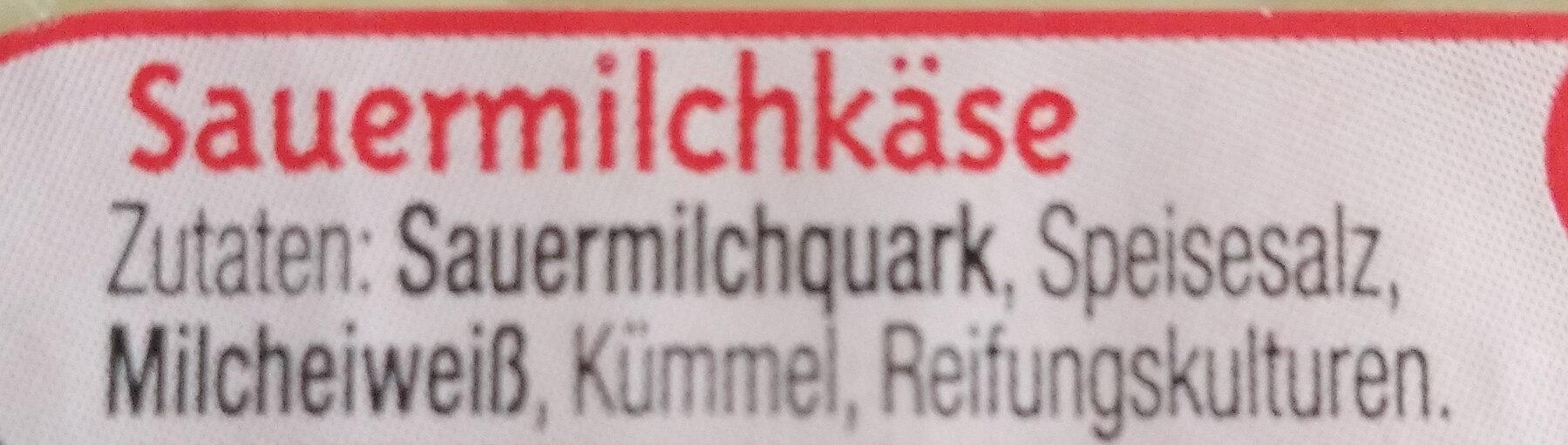 Handkäse, Olmützer Quargel - Ingrédients - de