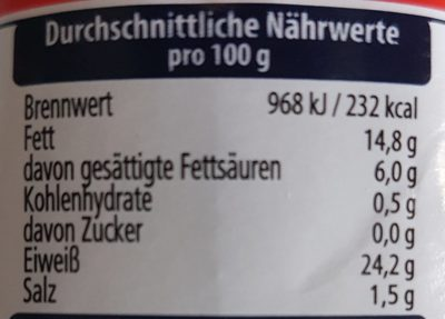Hereford Corned Beef - Informations nutritionnelles