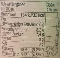 Natur Radler Alkoholfrei - Nutrition facts - de