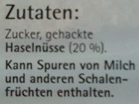 Unser Haselnuss-Krokant - Ingredients - de