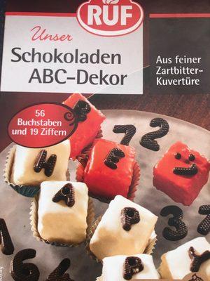 Schokoladen ABC-Dekor - Product