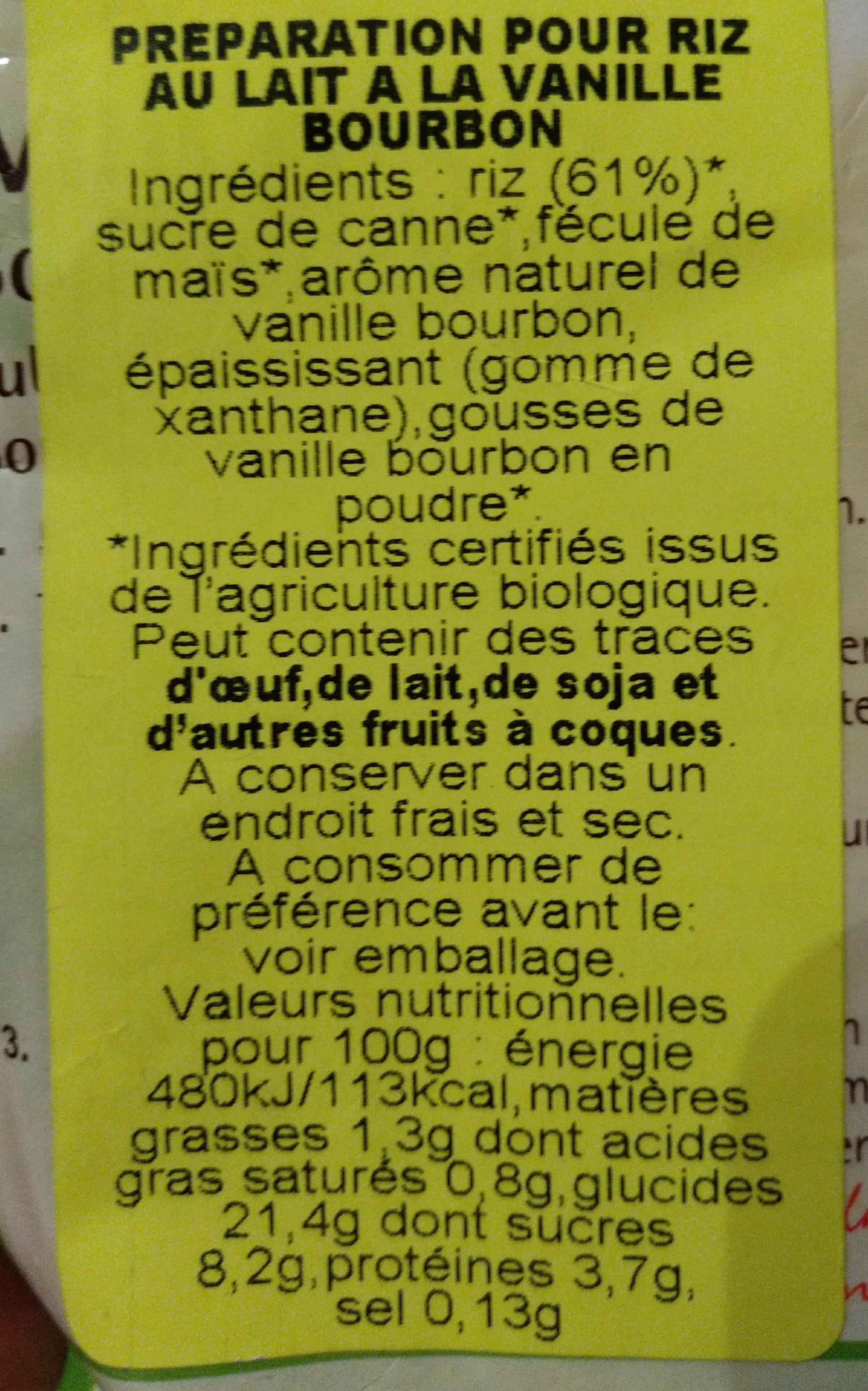 Ruf Milchreis - Ingrédients - fr