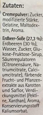 Unsere Panna Cotta, Mit Erdbeer - Soße 110 g Pro Packung - Ingrediënten - de