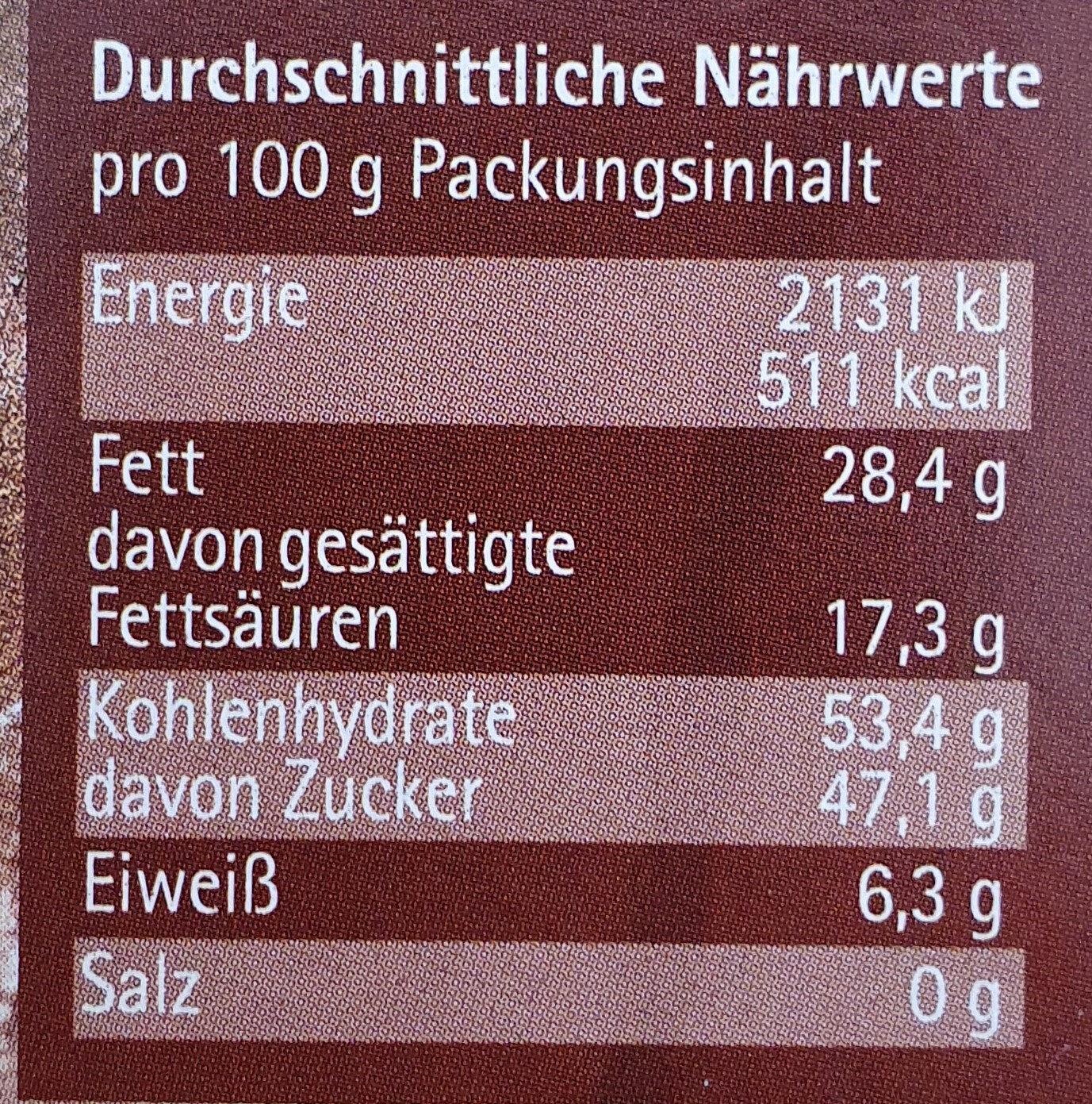 Chocolate Chunks - Voedingswaarden - de