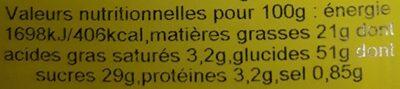 Classic Muffins - Informations nutritionnelles - de
