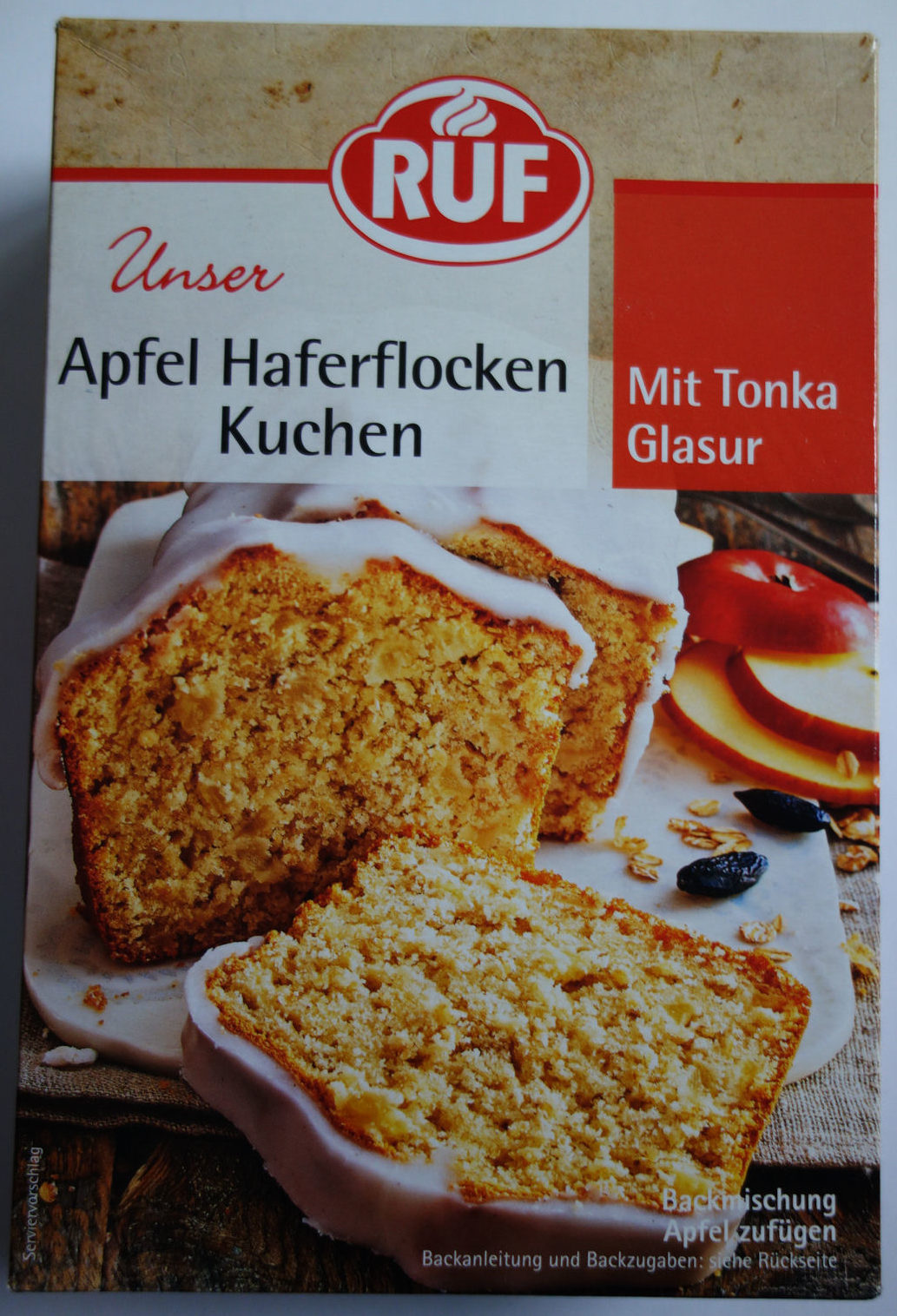 Apfel Haferflocken Kuchen Mit Tonka Glasur Ruf 510 G