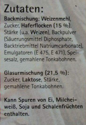 Apfel Haferflocken Kuchen mit Tonka Glasur - Ingredients - de