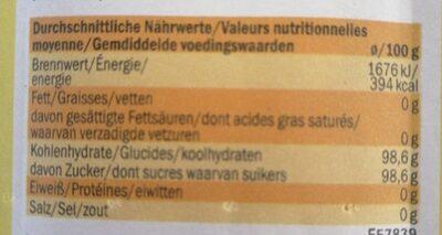 Sucre vanilliné - Nutrition facts - en
