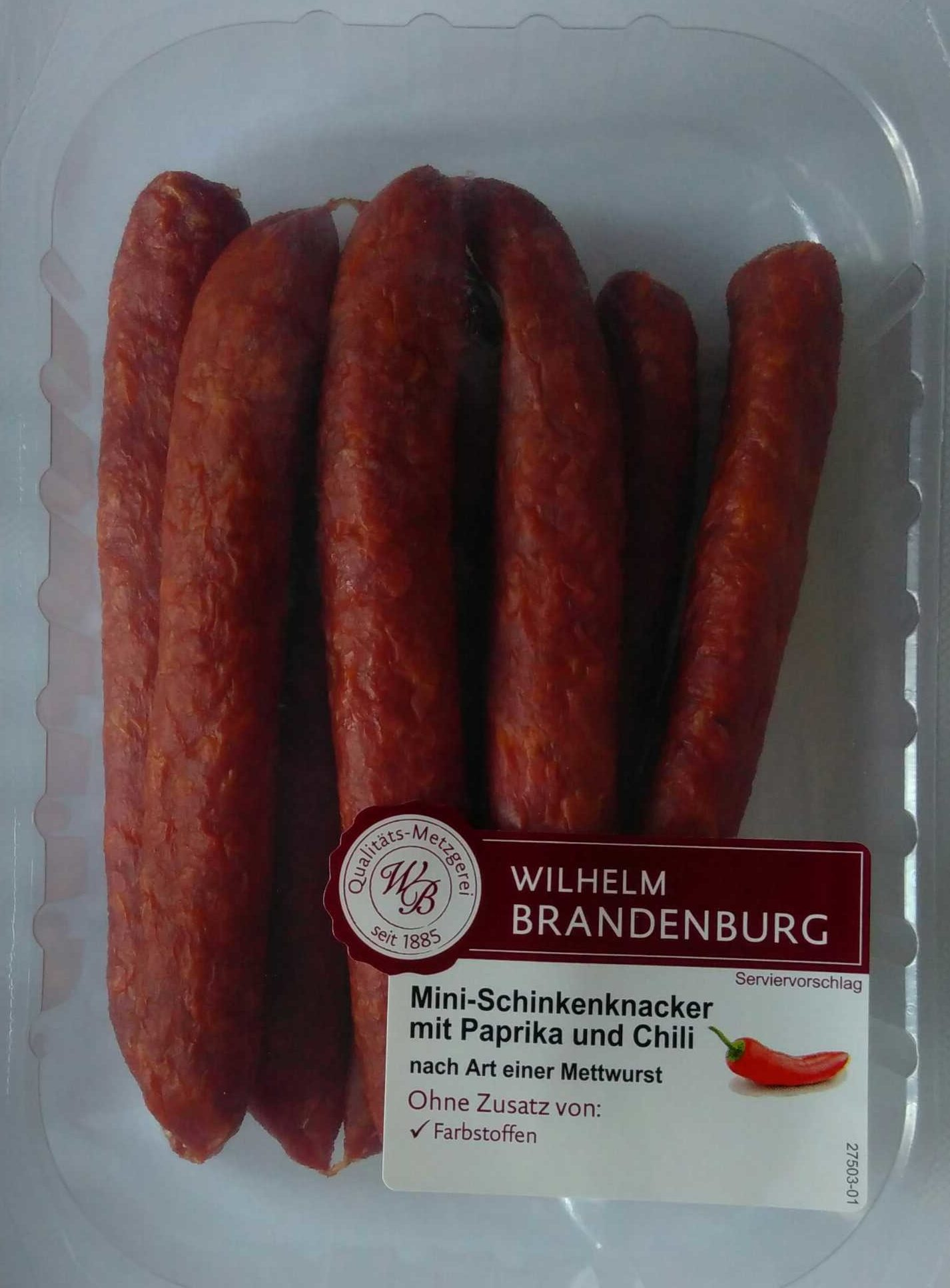 Mini-Schinkenknacker mit Paprika und Chili - Product - de