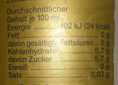 Mio Mio Mate - Nutrition facts - de