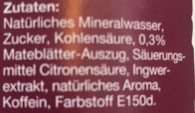 Mate Ginger - Ingrédients - fr