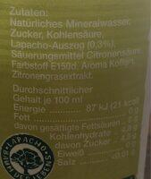Mio Mio Lapacho - Nutrition facts - de