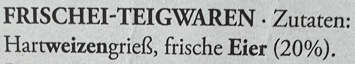 Schwäbische Spätzle - Inhaltsstoffe - de