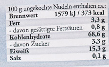 Original Hausmacher Wellenband - Nährwertangaben