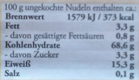 Original Schwäbische Knöpfle - Nährwertangaben - de