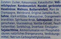 Feine Trüffel & Pralinen - Ingredients