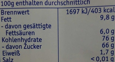 Feine Pralinentaler Pfefferminz - Informations nutritionnelles