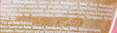 Rührteigboden - Ingrédients - de