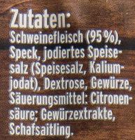 Nürnberger Rostbratwurst - Ingrediënten - de