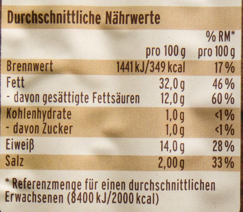 Nürnberger Rostbratwurst - Voedingswaarden - de