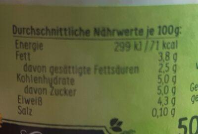 Allgäuer Joghurt - Valori nutrizionali - de