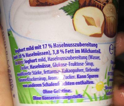 Ehrmann Almughurt Haselnuss - Ingrédients - fr