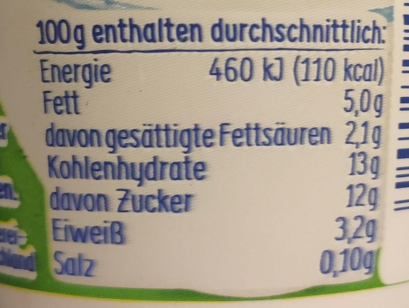 Ehrmann Almughurt Haselnuss - Informations nutritionnelles - de