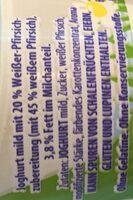 Almigurt Weißer Pfirsich - Ingrédients