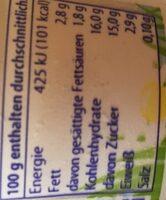 Almigurt Weißer Pfirsich - Informations nutritionnelles