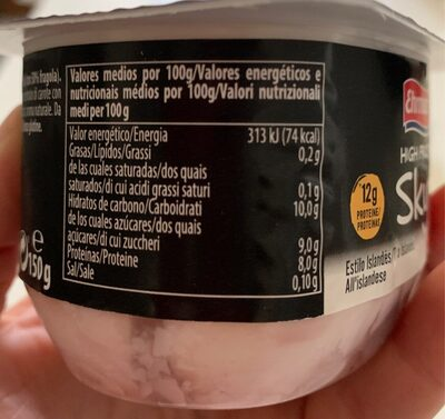 High protein skyr - Informations nutritionnelles - fr