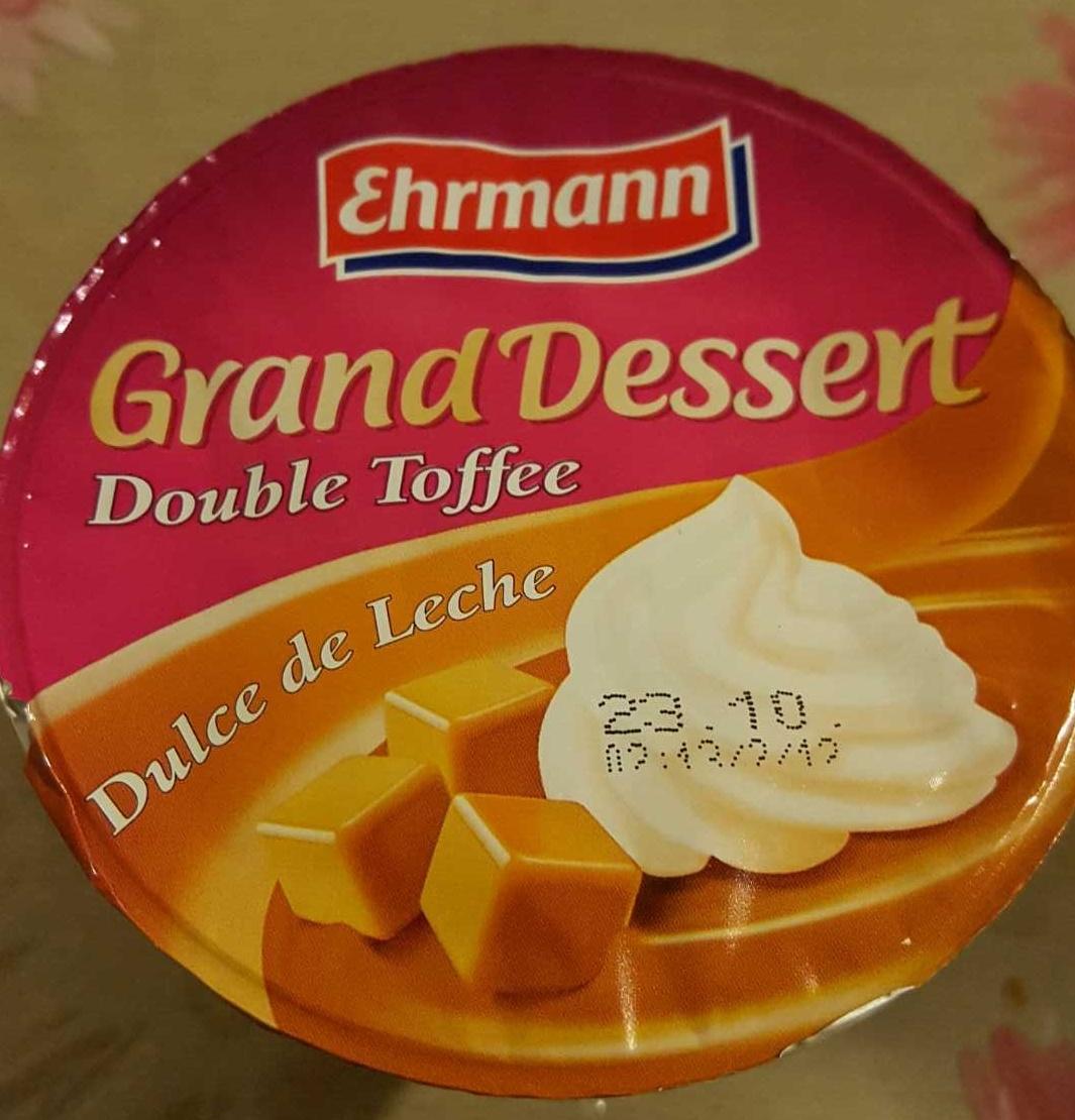 grand dessert toffee dulce de leche ehrmann 200 g