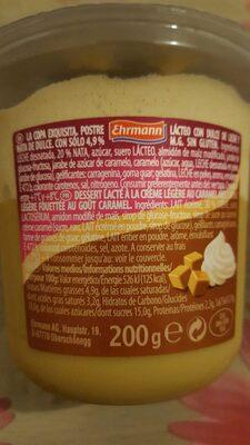 Grand Dessert Double Toffee Dulce de Leche - Nutrition facts - fr