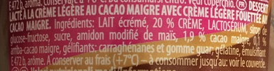 Grand dessert double choc - Ингредиенты