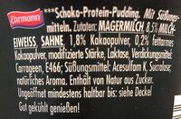 High Protein Chocolate pudding - Zutaten - de