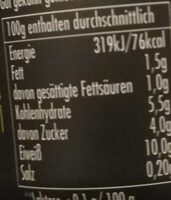 High Protein Caramel Pudding - Nutrition facts